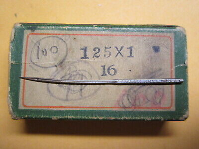 Wheeler & Wilson, Singer 1W1 Curved Sewing Machine Needle / Size 16 / Qty 1