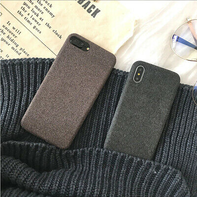 Iphone Case For iPhone 7 6 X XS Luxury Cloth Texture Soft TPU Silicone Cover