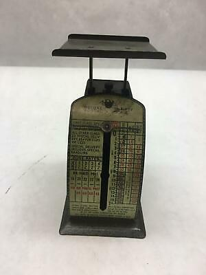 ANTIQUE Small IDL Deluxe POSTAGE Scale THRIFTY Black METAL