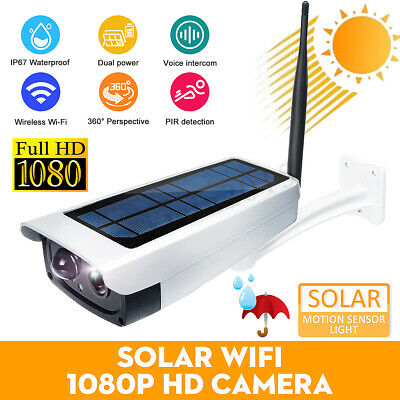 Solar Power Wifi Wireless 1080P IP67 HD Security Surveillance Camera Outdoor