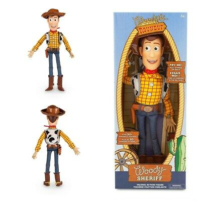 Disney Toy Story Woody Cowboy With Hat Pull String Talking Action Figure Doll