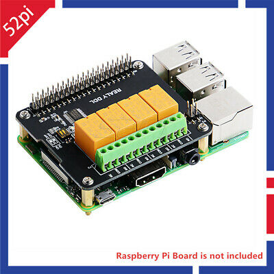DockerPi 4 Channel Relay Expansion Board Relay Module for Raspberry Pi 4 /3/2/B+