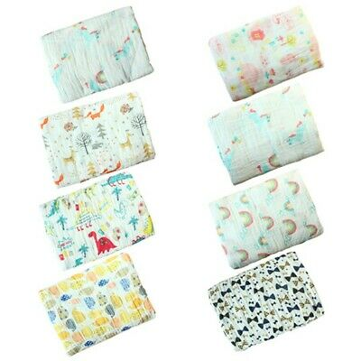 Newborn Baby 2Layers Cotton Swaddle Muslin Blankets Warm Wrap Bedding Blanket US