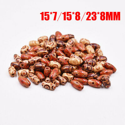 AU 200Pcs Mixed Large Hole Boho Wooden Beads DIY Crafts Bracelet Macrame 2mm Hot
