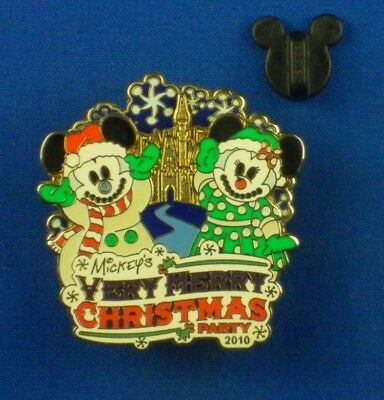 Mickey's Very Merry Christmas Party 2010 Snowmen Spinner Pin # 80739