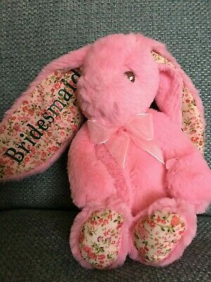 Personalised teddy/ bunny / Easter / christening Gift = postage combined