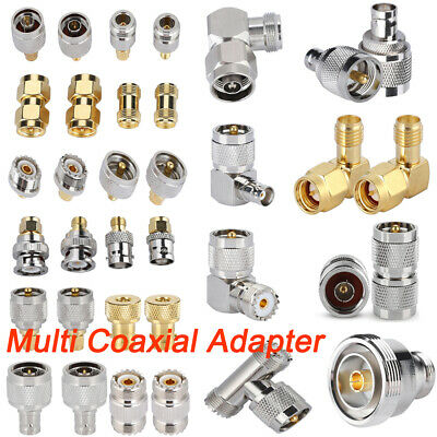 4X SMA N UHF BNC L29 Plug Jack Male to Female RF Connector Adapter Coaxial Cable
