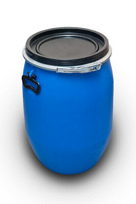 Plastikfass Barrel Cover with the Buckle 60 L Blue Blue New! Top