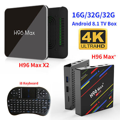 H96 Pro MAX 4GB 64GB Android 8.1 TV Box K18.0 HD Smart Network Media Player CF