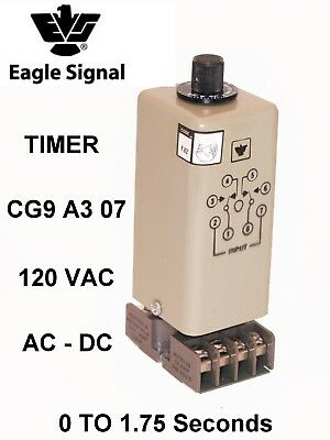 CNM5 TYCO 0.1SEC TO 9990HRS 120VAC TIMER POTTER BRUMFIELD 1393124-1 NEW