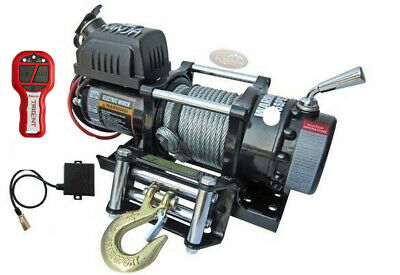Warrior 4500 NINJA 12v Steel Rope Winch INC Wireless Remote - 45SPS12+Remote