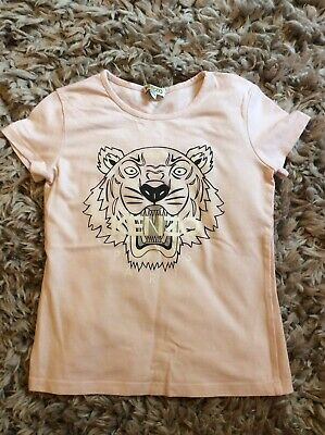 9b5dbc34a Girls Kenzo Kids Pink Tiger Short Sleeve T-Shirt Age 8 Great Condition