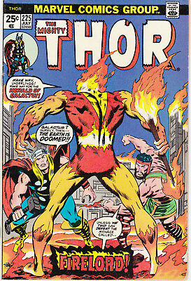 THOR, THE MIGHTY 225 - 1st APP FIRELORD (BRONZE AGE 1974) - 7.5