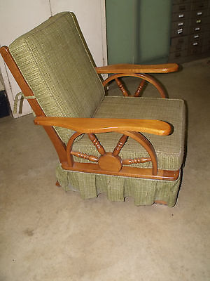 Vintage 1950's Western Cowboy Wagon Wheel Rocking Chair -PICKUP ONLY