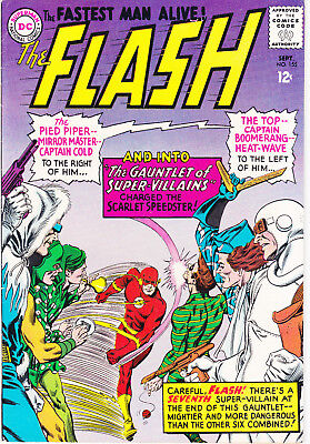 FLASH 155 - 1st APP THE ROGUES (SILVER AGE 1965) - 8.5