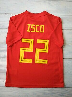 2f2532bdb Isco Spain kids jersey 9-10 years 2019 home shirt BR2713 soccer football  Adidas