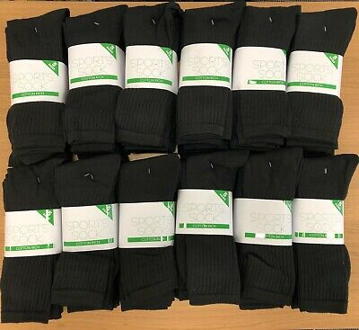 Wholesale Sports Socks Black For Mens 150 Pairs 6-11 Stock Clearance Sale