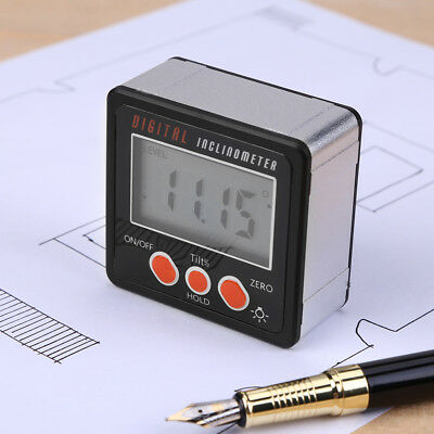 Mini LCD Digital Inclinometer Protractor Bevel Angle Gauge Magnet Base Trendy