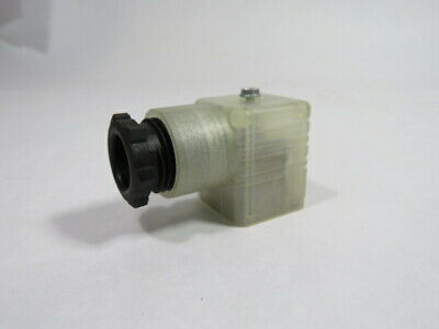 SMC GDM Cable Connector For Solenoid Coil 10 Amp 250V WHITE  USED