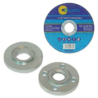 Flange Set M14 Threaded 22.23mm Bore Angle Grinder Replacement, Outer Inner,Nut