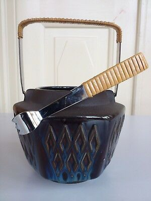 Ice Bucket. Vintage pottery made by Soholm,Bornholm.Denmark. Fine condition