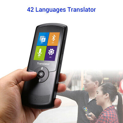 """Smart Voice Translator Language 2.4"""" Touch Screen for Learning Business Shopping"""