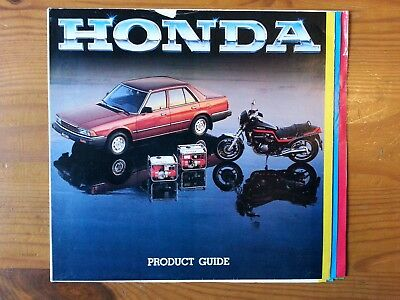 HONDA, Brochure, Product Range, Guide, Cars/Motorcycles/Outboards etc, 1981/2??