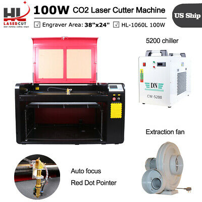 HL1060 100W Laser Cutter Engraving Machine DSP System whit Auto Focus US/EU Ship