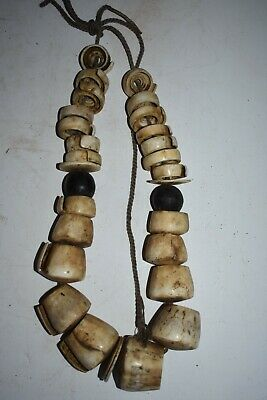 Orig $449 Papua New Guinea Huge Conus Shell Necklace 14In Prov