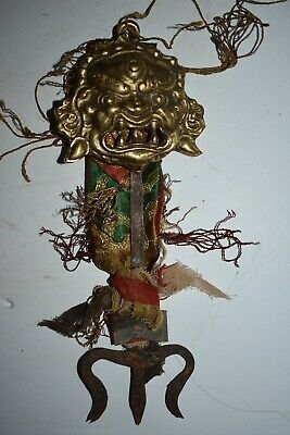 orig $499-NEPAL/TIBET SHAMAN STAFF CHEPPU EARLY 1900S 10IN prov