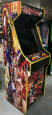 Capcom/ Street Fighter Themed Cabinet Multiple Games Arcade Simpsons, X-Men!