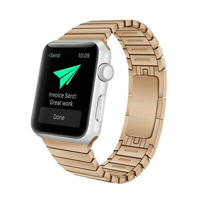 Correa Pulsera Brazalete Acero Inoxidable Apple Watch Series 4 44Mm Oro Rosa