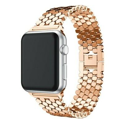 Correa Pulsera Brazalete Acero Inoxidable Apple Watch Series 3 42Mm Oro Rosa