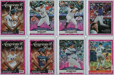 2019 Donruss Baseball Pink Firework Parallel Retail Inserts *You Pick From List*