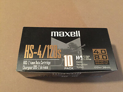 Box Of 10 New Sealed Maxell DAT HS-4/120s Digital Cassettes Tapes Made In Japan