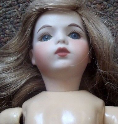 "12""  BRU JNE FRENCH repro  Bisque head 1177  NANCY TINGERS reproduction DOLL"