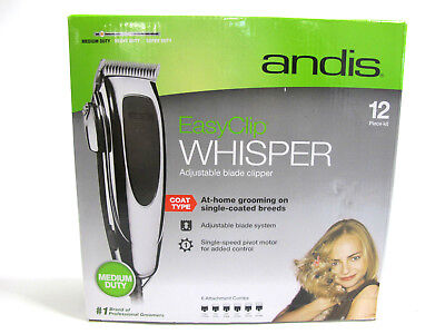 Andis 23585 EasyClip Whisper Adjustable Blade Clipper With DVD
