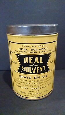 Real Solvent Hand Soap Antique Tin Can New York NY Vintage 1920s 1930s? Kitchen
