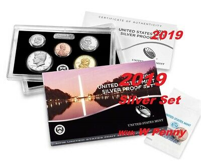 2019 S US Mint Silver Set 11-coin coins 19RH coins w/ 2nd W Penny Reverse Proof