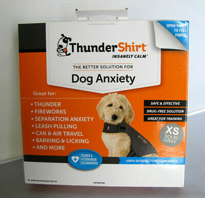 ThunderShirt HGXS-T01 Classic Dog Anxiety Jacket XS- Solid Grey