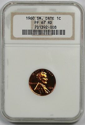 1960 Small Date 1C NGC PF 67 RD Lincoln Memorial Penny