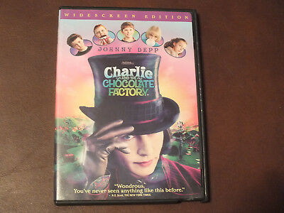 Charlie & the Chocolate Factory-Johnny Depp (2005, DVD) Wide Screen Edition