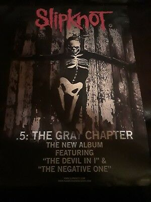 SLIPKNOT 2014 .5 THE GRAY CHAPTER 2 sided promo poster New Old Stock
