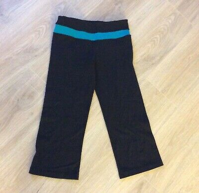 74a151d5ec14c1 Lululemon Leggings Crop Capri Yoga Running Athletic Pants Size 4 Womens  Black