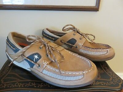 820d5d2f2c3 MARGARITAVILLE MENS SPEED Boat Brown Leather Boat Shoes MG1105A Sz ...