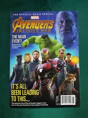 Marvel The Official Movie Avengers Infinity War Magazine Special Edition