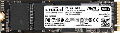 NEW Crucial P1 1TB 3D NAND NVMe PCIe M.2 SSD 1 TB CT1000P1SSD8 - 5 Year Warranty