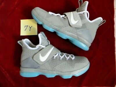 sale retailer bc9d1 2ad2d Nike Air Zoom LeBron James XIV 14 Back to The Future Mag Marty McFly sz 7