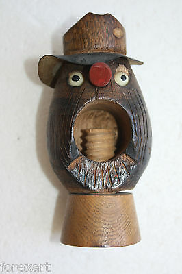 Antique Hand Crafted Wooden Figurine Nut Cracker Collectible Item