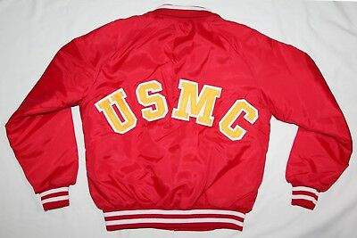 Vintage 1980'S New Old Stock Usmc, Marine Corps Red Men's Jacket, Size Small